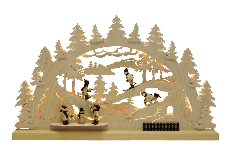 Schwibbogen von Romy Thiel mit dem Motiv Winterlandschaft, 63 cm _Bild1