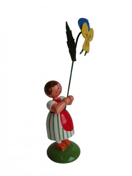 Blumenkinder - Sommerblumenkind Mädchen mit Stiefmütterchen, 12 cm von WEHA-Kunst Dippoldiswalde/ Erzgebirge