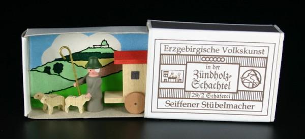 Zündholzschachtel Schäferei von Gunter Flath aus Seiffen / Erzgebirge Detailgetreue Nachbildung einer Schäferei aus früheren Zeiten. Dieses Motiv wurde in …