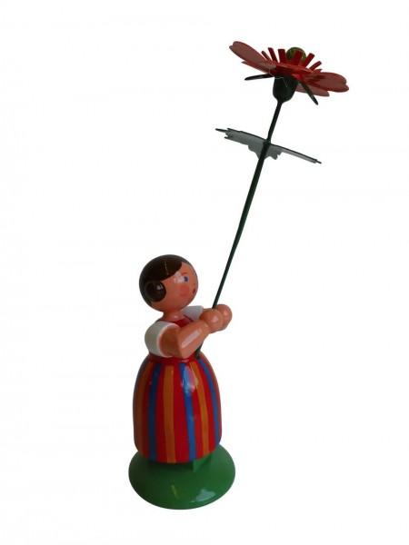 Blumenkinder - Feld- und Wiesenblumenmädchen mit Geum, 11 cm von WEHA-Kunst Dippoldiswalde/ Erzgebirge