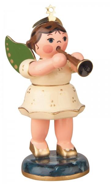 Hubrig Volkskunst Weihnachtsengel mit Klarinette