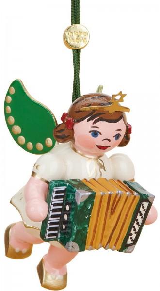 Christbaumschmuck Weihnachtsengel mit Akkordeon von Hubrig Volkskunst