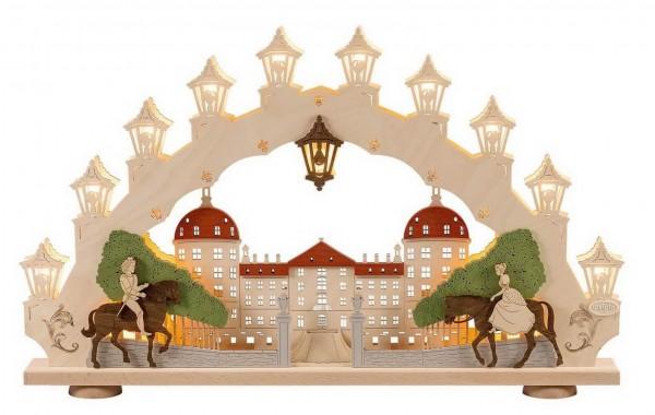 Weigla Schwibbogen Moritzburg elektrisch beleuchtet