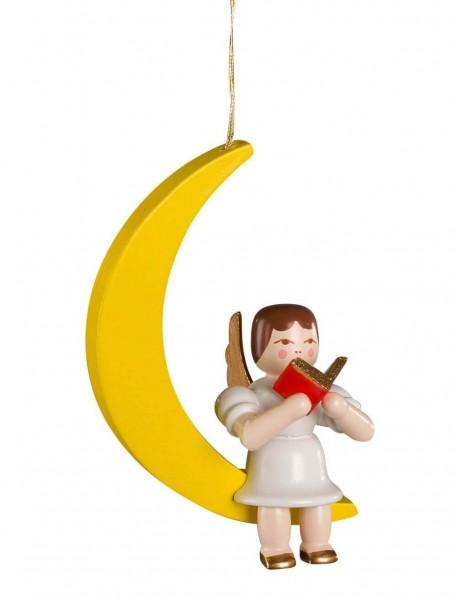 Christbaumschmuck Engel im Mond hergestellt von Albin Preißler