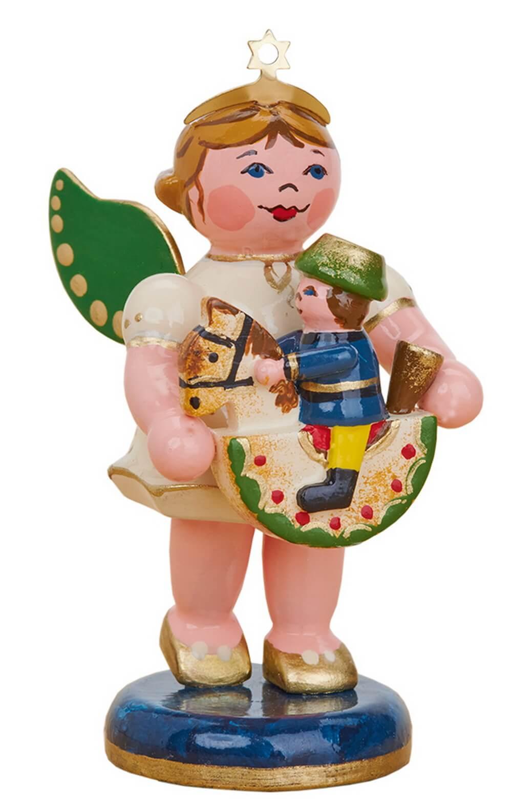 Weihnachtsengel mit Reiterlein von Hubrig Volkskunst