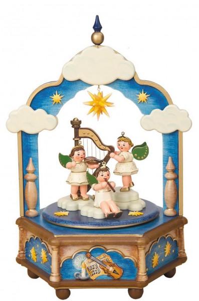 Spieluhr & Spieldose Stille Nacht von Hubrig Volkskunst GmbH Zschorlau/ Erzgebirge ist 26 cm hoch. Bei dieser Spieluhr kann man eine von 3 verschiedenen …