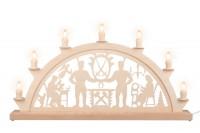 Vorschau: Schwibbogen von Nestler-Seiffen mit dem Motiv Schwarzenberger, 60 cm, elektrisch beleuchtet mit 7 Spitzkerzen_Bild1