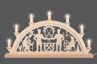 Vorschau: Schwibbogen von Nestler-Seiffen mit dem Motiv Schwarzenberger, 60 cm, elektrisch beleuchtet mit 7 Spitzkerzen_Bild3