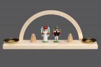 Vorschau: Minischwibbogen mit dem Motiv Engel und Bergmann für Wachskerzen von Nestler-Seiffen_Bild3