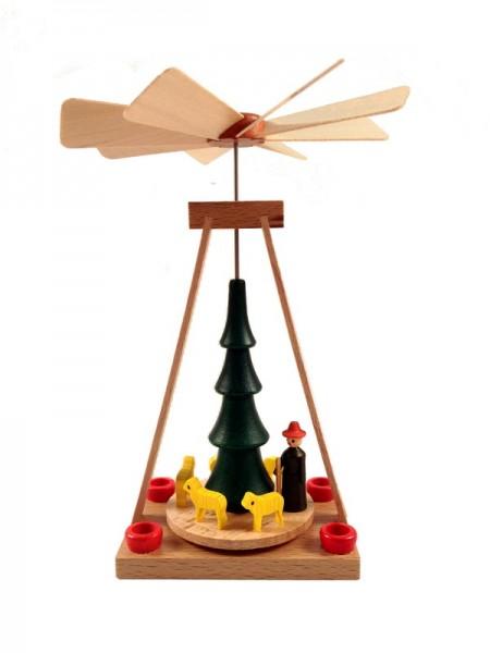 Weihnachtspyramide & Minipyramide Schäfer, 13 cm, Spielwarenmacher Günther Seiffen/ Erzgebirge