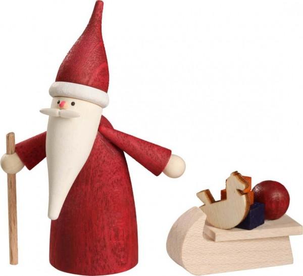 Weihnachtswichtel mit Schlitten von Seiffener Volkskunst eG