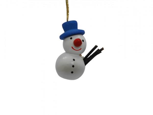 Schneemann mit blauem Hut von Nestler-Seiffen