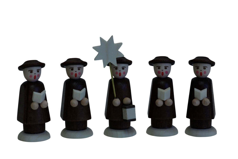 Nestler-Seiffen, Weihnachtsfiguren Kurrende, braun, 5 - teilig_Bild1
