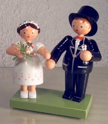 Hochzeitspaar, 12 cm, WEHA-Kunst Dippoldiswalde/ Erzgebirge