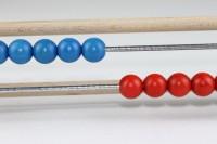 Vorschau: Abacus Schülerrechenrahmen 20 Kugeln aus Holz, 29 x 6 cm, Spielalter ab 3 Jahre, Erzgebirgische Holzspielwaren Ebert GmbH Olbernhau/ Erzgebirge