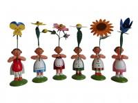 Vorschau: Blumenkinder von WEHA-Kunst Sommerblumenmädchen, 6 Stück_Bild1