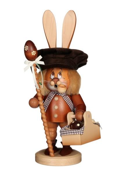 Räuchermännchen Wichtel Hase mit Eierkorb und dem niedlichen Gesicht von Christian Ulbricht GmbH & Co KG Seiffen/ Erzgebirge ist 36 cm groß. Mit …