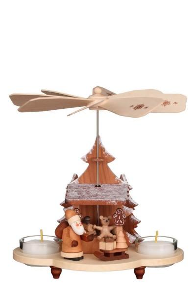 Pyramide Weihnachtsmann auf Striezelmarkt, 20 cm, natur von Christian Ulbricht