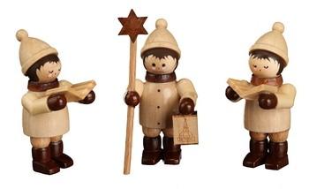 Weihnachtsfiguren Sternsänger, 3 Stück, mini von Romy Thiel Deutschneudorf/ Erzgebirge