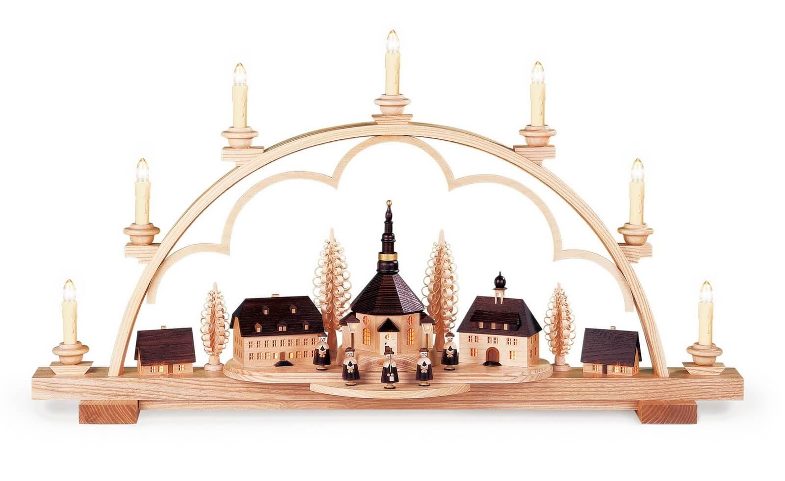 Schwibbogen Seiffener Dorf, 80 cm von Müller Kleinkunst