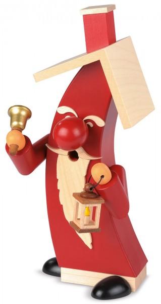 Räucherfigur Weihnachtsmann modern aus Holz von Müller Kleinkunst aus Seiffen