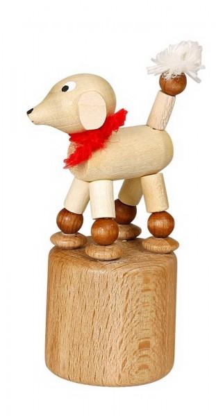 Wackelfigur weißer Pudel von Jan Stephani