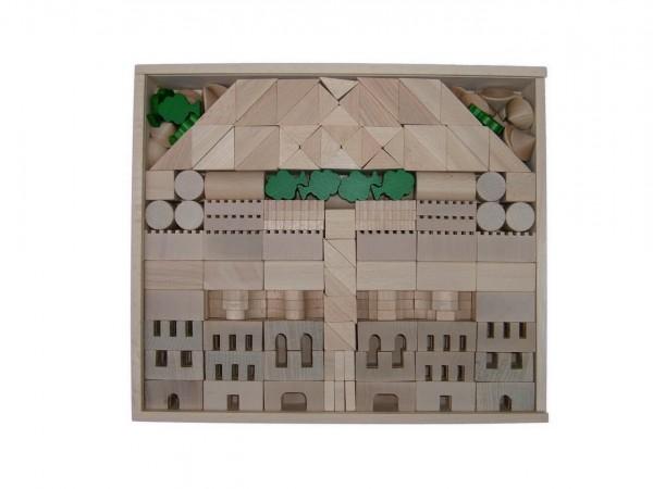 Bausteine und Bauklötze sind eines der ältesten Spielzeuge für Kinder.Der Baukasten Architektur bietet mit 345 Holzbausteinen viele Möglichkeiten …