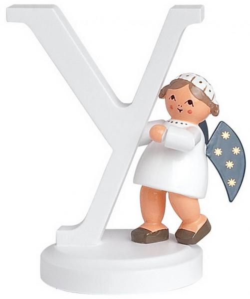 KWO Weihnachtsengel mit dem Buchstaben Y aus dem Erzgebirge