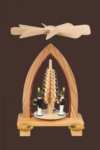 Weihnachtspyramide mit Bergleuten, farbig, 26 cm, Heinz Lorenz Olbernhau/ Erzgebirge
