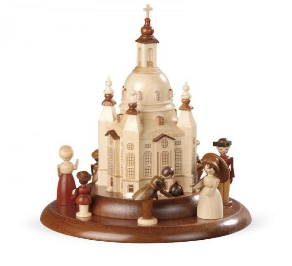 Motivplattform für Spieluhr von Müller GmbH Kleinkunst aus dem Erzgebirge, Motiv Historische Figuren mit Frauenkirche