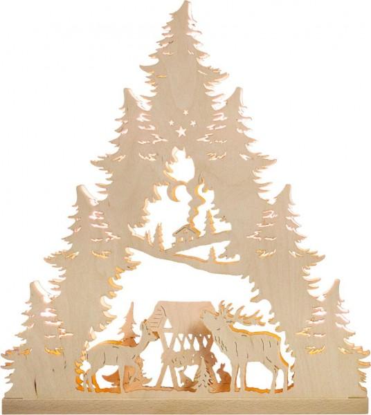 Weigla LED Lichterspitze Hirschfamilie