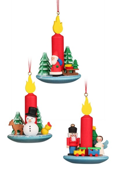 Baumbehang & Christbaumschmuck Kerzensortiment, 6 Stück, 5 x 7 cm von Christian Ulbricht Seiffen/ Erzgebirge