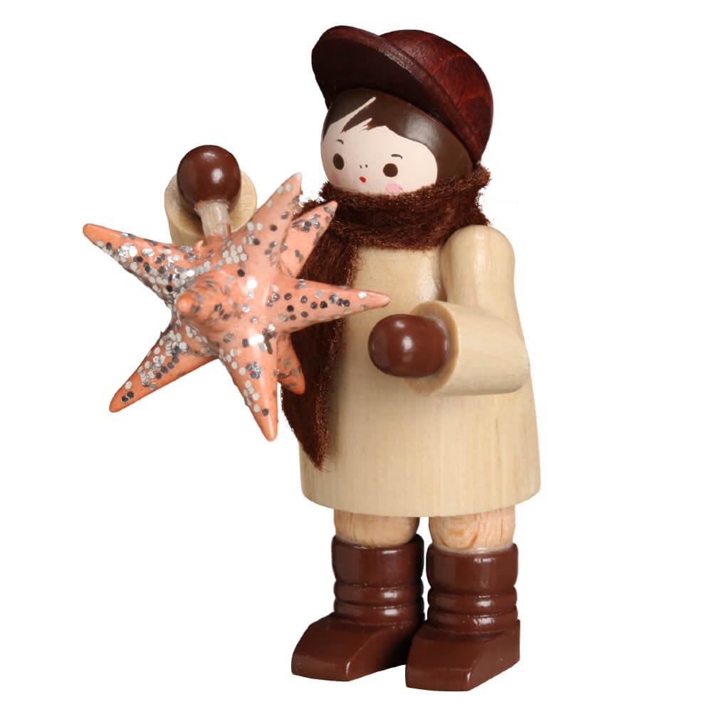 Sammlerfigur - Mann mit Stern in natur von Romy Thiel Deutschneudorf/ Erzgebirge. Die wunderschöne traditionelle Weihnachtsbeleuchtung bezaubert jedes Jahr …