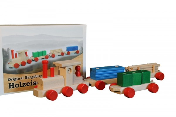 Holzeisenbahn, 75 cm, Spielalter ab 3 Jahre, Erzgebirgische Holzspielwaren Ebert GmbH Olbernhau/ Erzgebirge