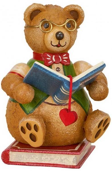 Teddy Bücherwurm aus Holz aus der Serie Hubiduu Teddy von Hubrig