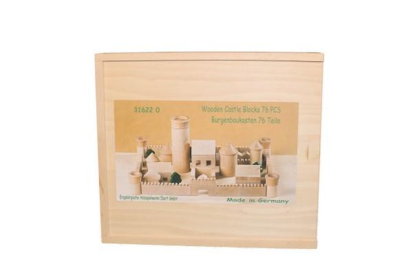 Hochstapler aufgepasst! Dieser Baukasten ist mit 76 natur Holzbausteine verschiedener Größen und Formen ausgestattet. Kleine Ritter und Könige könne damit …