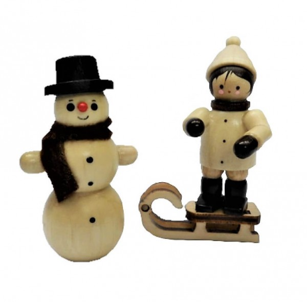 Der Schneemannbauer, mini in natur von Romy Thiel Deutschneudorf/ Erzgebirge, sorgt für den Funken Spaß zur Winterzeit. Ein toller Schneemann ist entstanden. …