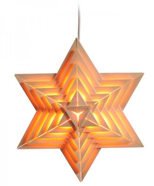 Elektrisch beleuchteter Weihnachtsstern, natur, 40 cm von Volkskunstwerkstatt Eckert aus Seiffen/ Erzgebirge