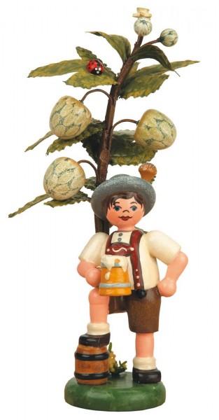 Junge am Hopfenbaum mit Bierkrug in der Hand aus der Serie Hubrig Herbstkinder