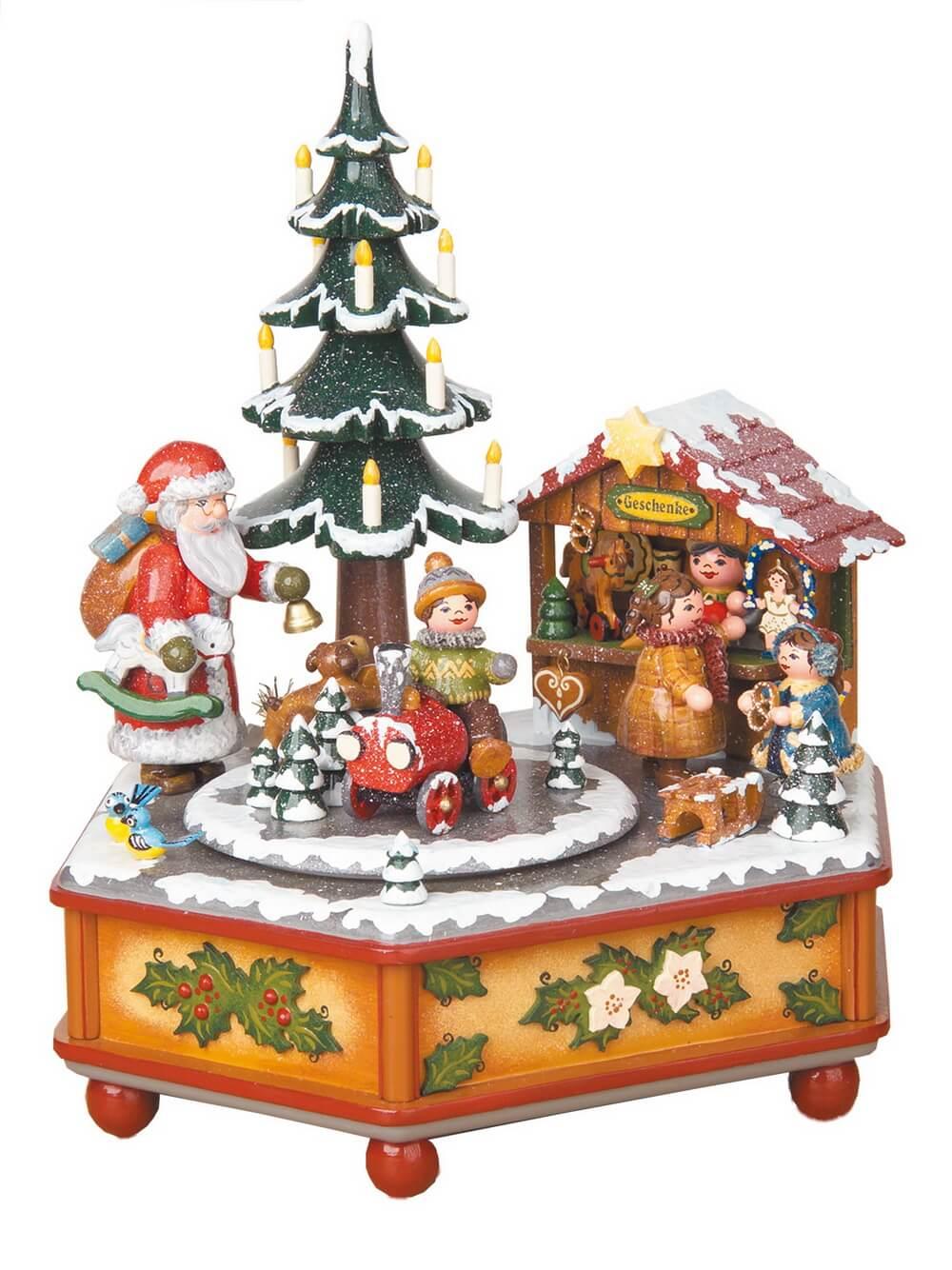 Spieluhren & Spieldosen Weihnachtszeit von Hubrig Volkskunst GmbH Zschorlau/ Erzgebirge ist 22 cm hoch. Bei dieser Spieluhr kann man eine von 3 …