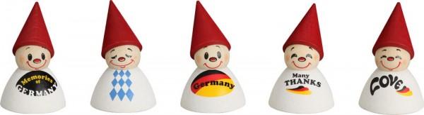 Deutsche Fan-Wippel mit Spruch, farbig von Seiffener Volkskunst