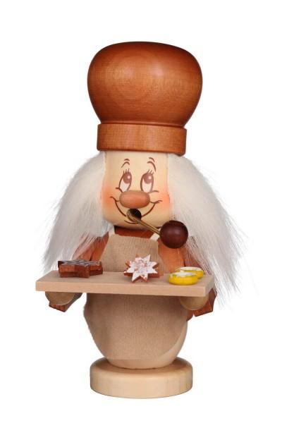 Räuchermännchen Miniwichtel Bäcker mit der typischen Knubbelnase und dem freundlichen Gesicht von Christian Ulbricht GmbH & Co KG Seiffen/ Erzgebirge …