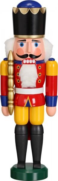 Darf ich vorstellen, Ihre Majestät Nussknacker König in rot, 29 cm von Seiffener Volkskunst eG aus Seiffen/ Erzgebirge. Dienten früher die Nussknacker oder …