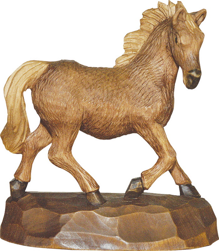 Pferd, gebeizt, geschnitzt, in verschiedenen Größen von Schnitzkunst aus dem Erzgebirgein folgendes Größen erhältlich: 15 x 15 x 5 cm, 18 x 18 x 5 cm oder 22 …