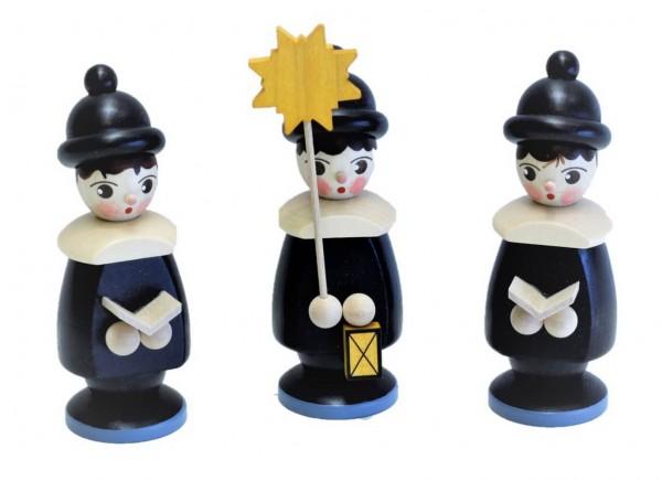 Weihnachtsfiguren von Nestler-Seiffen Kurrende 3 - teilig