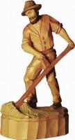 Vorschau: Bauer mit Sense, geschnitzt in verschiedenen Größen von Schnitzkunst aus dem Erzgebirge