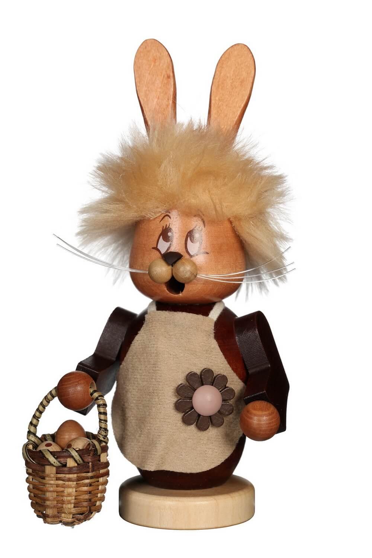 Räuchermännchen Miniwichtel Häsin mit dem niedlichen Gesicht von Christian Ulbricht GmbH & Co KG Seiffen/ Erzgebirge ist 17 cm groß. Die Osterhäsin hat …