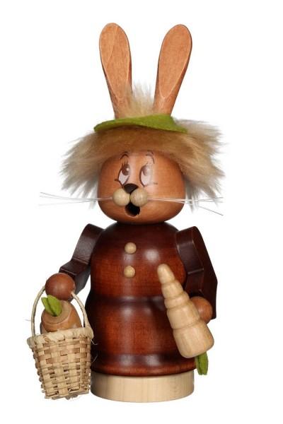 Räuchermännchen Miniwichtel Häsin mit Karotte mit dem niedlichen Gesicht von Christian Ulbricht GmbH & Co KG Seiffen/ Erzgebirge ist 17 cm groß. Um …