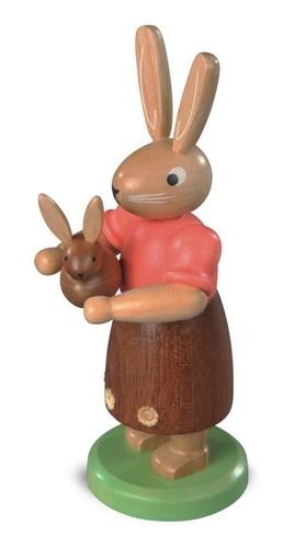 Osterhasenmutter von Müller Kleinkunst mit Kind aus Holz