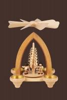 Vorschau: Weihnachtspyramide & Tischpyramide Handelsleute für Teelichter, 24 cm, Heinz Lorenz Olbernhau/ Erzgebirge
